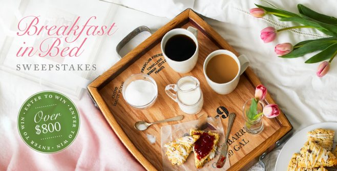 Stonewall Kitchen Breakfast in Bed Sweepstakes