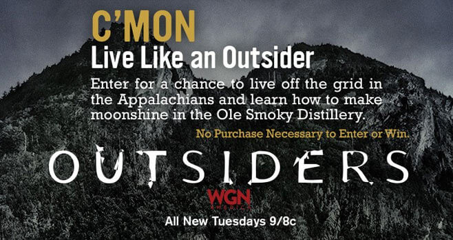 WGN America Outsiders Moonshine Sweepstakes