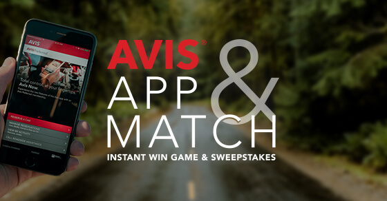 Avis App & Match Instant Win Game & Sweepstakes