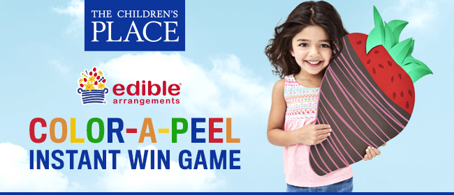 The Children's Place Color-a-Peel Instant Win Game