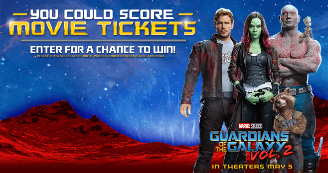 DORITOS Guardians of the Galaxy: Vol. 2 Instant Win Game (DoritosTicketOffer.com)