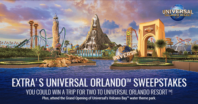 Extra's Universal Orlando Sweepstakes (Word Of The Day Included)