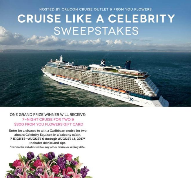 From You Flowers Cruise Like A Celebrity Sweepstakes