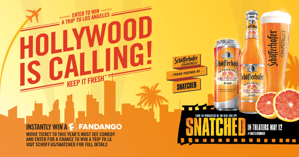 Schofferhofer Grapefruit Hollywood is Calling Sweepstakes