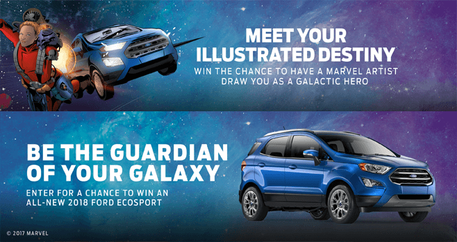 Marvel's Guardians Of The Galaxy Unstoppable You Ford Sweepstakes (Marvel.com/EcoSport)