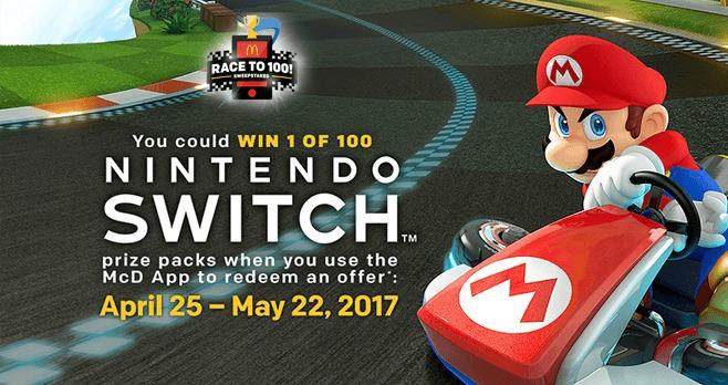 McDonald's Race To 100 Sweepstakes (PlayAtMcD.com)