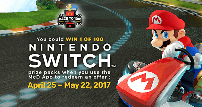 McDonald's Race To 100 Sweepstakes (PlayAtMcD.com)