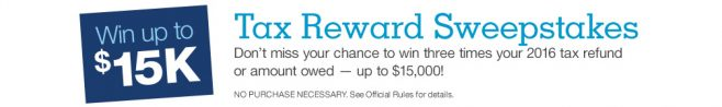 Staples Tax Rewards Sweepstakes