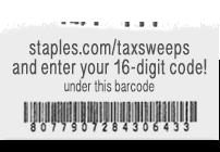 Staples Tax Reward Sweepstakes Code