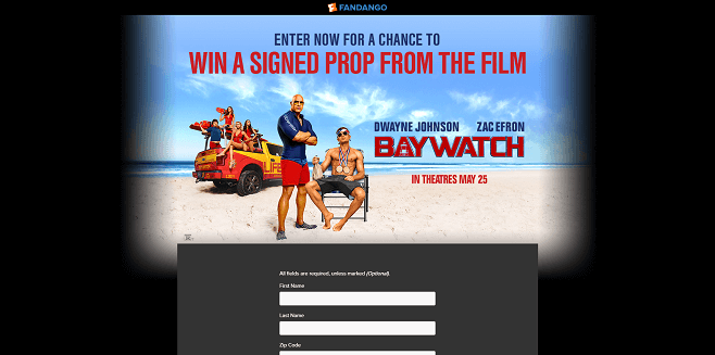 Fandango's Baywatch Sweepstakes