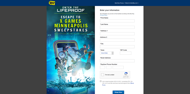 Best Buy LifeProof Escape to X Games Minneapolis Sweepstakes