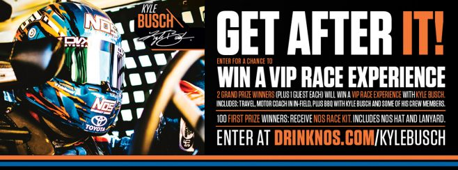 NOS Energy Drink Fire It Up with NOS and Kyle Busch Sweepstakes