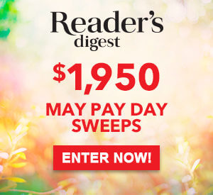 Reader's Digest $1,950 May Pay Day Sweepstakes