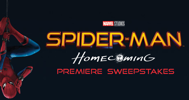 Spiderman homecoming sweepstakes