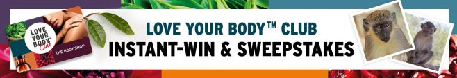 The Body Shop Love Your Body Club Instant Win & Sweepstakes