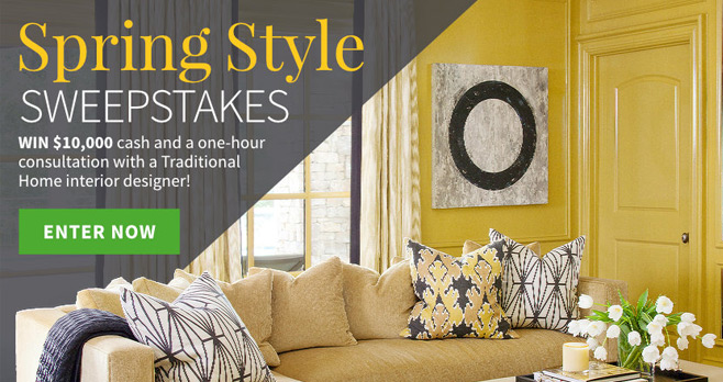 Traditional Home Spring Style Sweepstakes