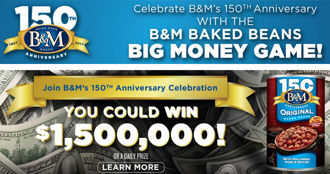 B&M Baked Beans Big Money Game