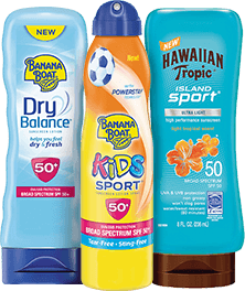 qualifying Banana Boat or Hawaiian Tropic products