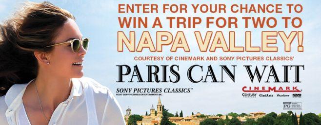 Cinemark Napa Winery Tour Sweepstakes