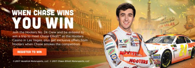 Hooters When Chase Wins You Win Sweepstakes