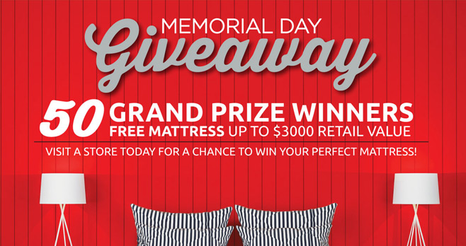 Mattress Firm Memorial Day Giveaway