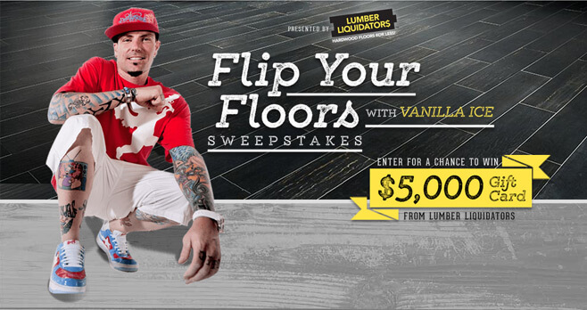 DIY Network Flip Your Floors Sweepstakes With Vanilla Ice