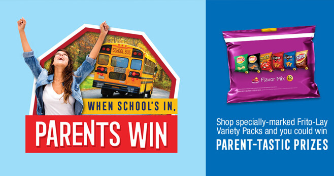 Frito-Lay Variety Packs Celebrate Back To School Sweepstakes