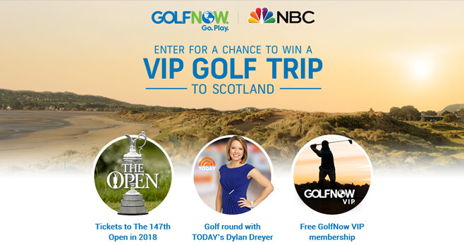 GolfNow VIP Golf Trip Sweepstakes