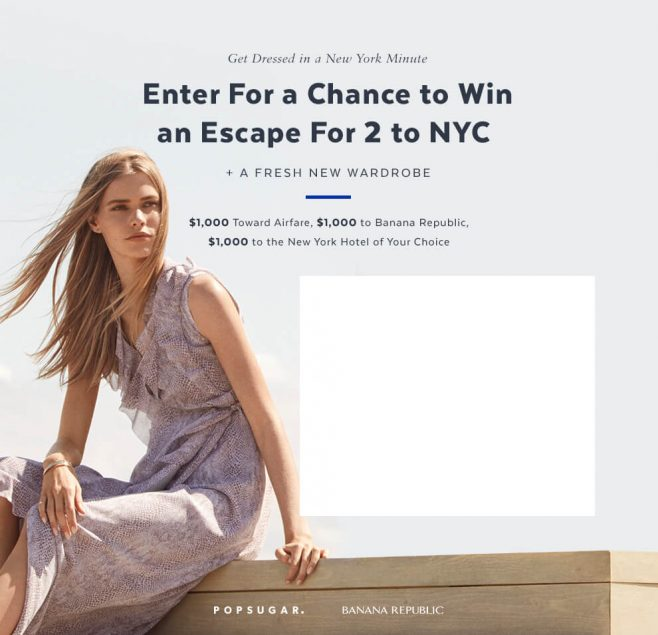 PopSugar Get Dressed in a New York Minute Sweepstakes