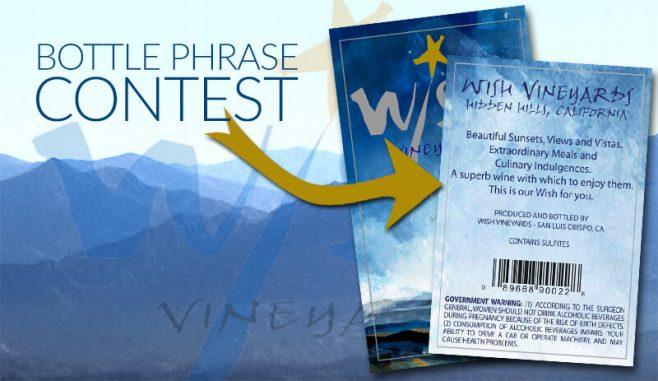 WiSH Vineyards Bottle Phrase Contest 2017