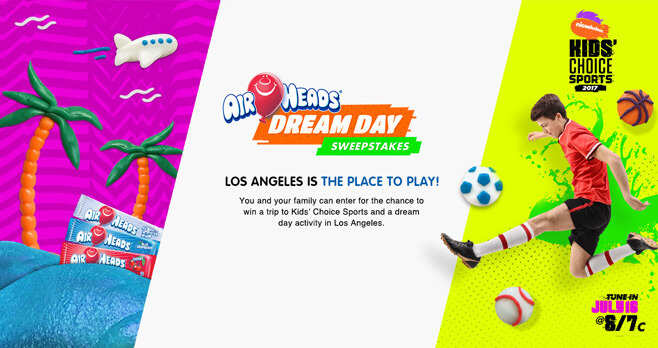Nick Airheads Dream Day Sweepstakes