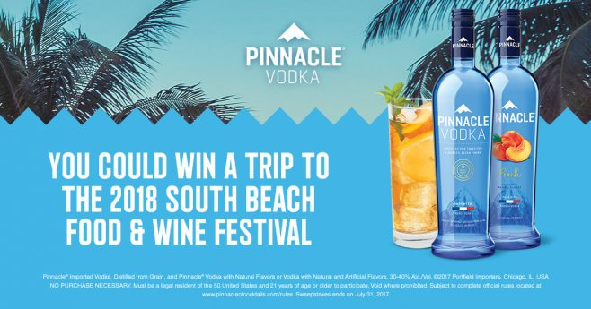 Pinnacle of Cocktails Sweepstakes