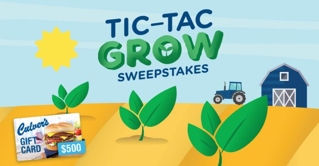 Culver's Tic-Tac Grow Sweepstakes