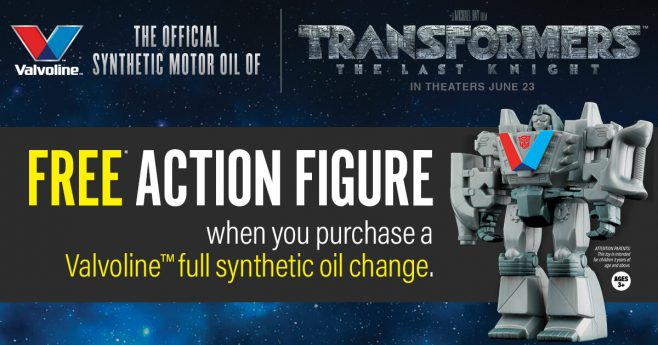 Valvoline Transformers: The Last Knight Instant Win