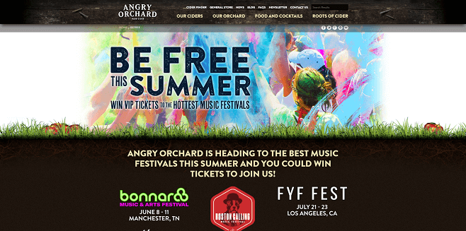 Angry Orchard Music Fest Sweepstakes