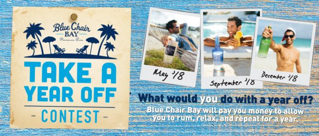 Year Off with Blue Chair Bay Rum Contest