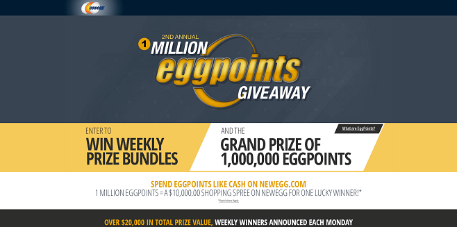 Newegg 2nd Annual 1 Million EggPoints Giveaway