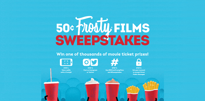 Wendy's 50-Cent Frosty Films Sweepstakes