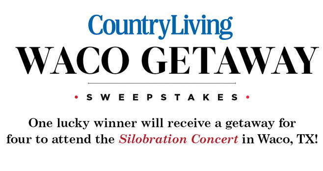 Country Living Waco Getaway Sweepstakes