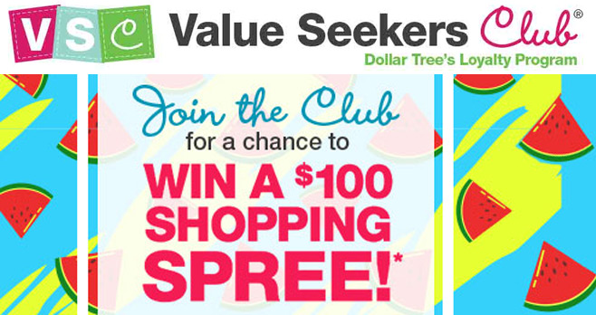 Dollar Tree Value Seekers Club Sweepstakes