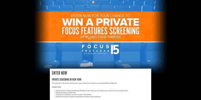 Fandango's Focus Features Screening Sweepstakes