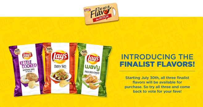 Lays Do Us A Flavor 2017 Voting Sweepstakes