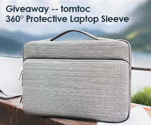 TomToc Laptop Sleeve Giveaway