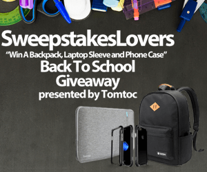 Tomtoc Back To School Giveaway