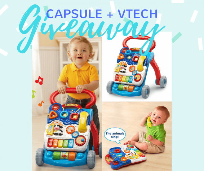 Capsule Labs VTech Sit-to-Stand Learning Walker Giveaway