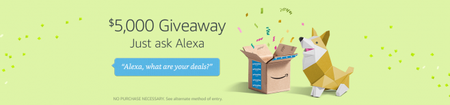 Amazon Alexa Voice Shopping $5,000 Prime Day Giveaway