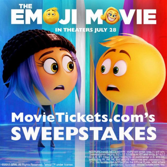 MovieTickets The Emoji Movie Sweepstakes