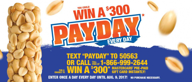 Hershey 2017 PayDay Every Day Instant-Win Game