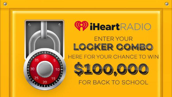 iHeartRadio $100,000 Locker Combination Guess Sweepstakes