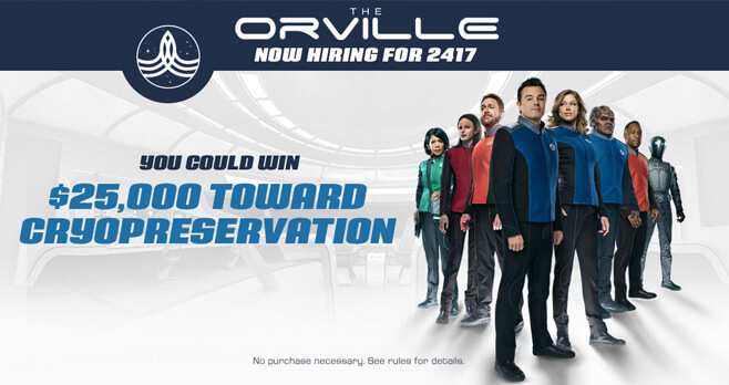 Fox Join The Orville Sweepstakes
